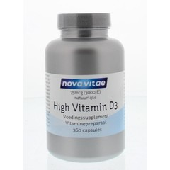 Nova Vitae High vitamine D3 3000IU 75 mcg (360 capsules)