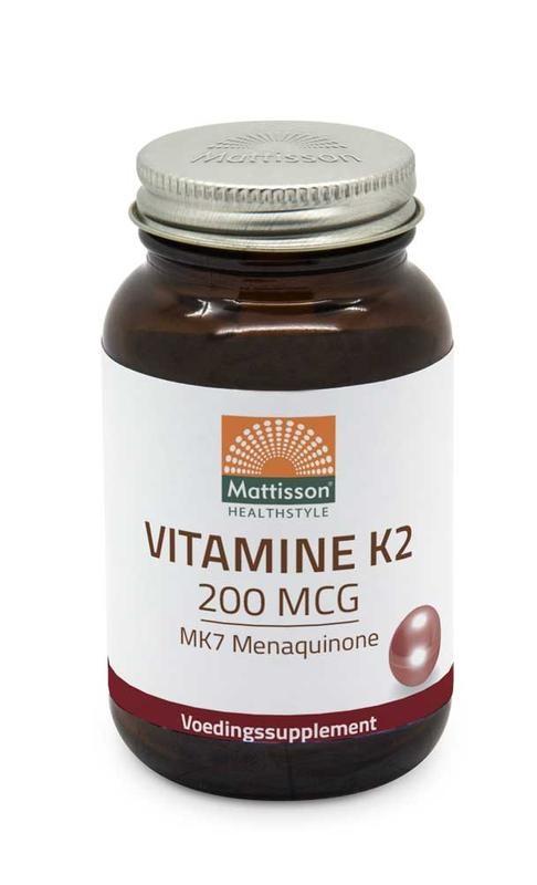 Mattisson Mattisson Vitamine K2 200 mcg/MK7 (60 tabletten)