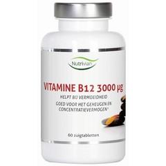 Nutrivian Vitamine B12 methylcobalamine 3 mg (60 zuigtabletten)