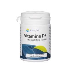 Springfield Vitamine D3 1000IU (120 tabletten)