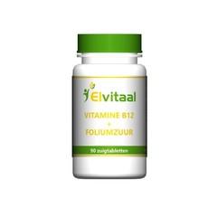 Elvitaal Vitamine B12 1000mcg + foliumzuur (90 zuigtabletten)
