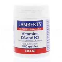 Lamberts Vitamine D3 25 mcg + K2 90 mcg (60 capsules)