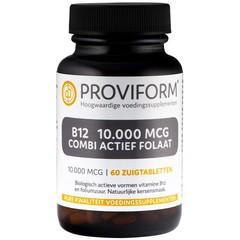 Proviform Vitamine B12 10.000 mcg combi actief folaat (60 zuigtabletten)
