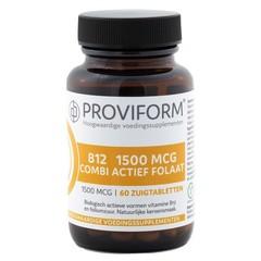 Proviform Vitamine B12 1500 mcg combi actief folaat (60 zuigtabletten)