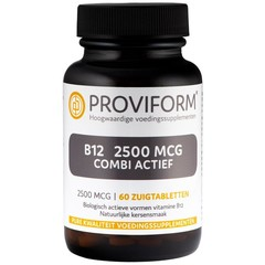Proviform Vitamine B12 2500 mcg combi actief (60 zuigtabletten)