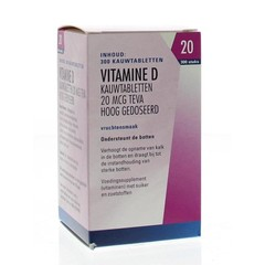 Teva Vitamine D 20 mcg 800IE (300 tabletten)