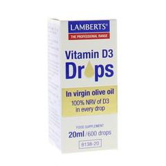 Lamberts Vitamine D3 druppels (20 ml)