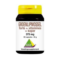SNP Groenlipmossel forte + vitamines + koper (60 capsules)