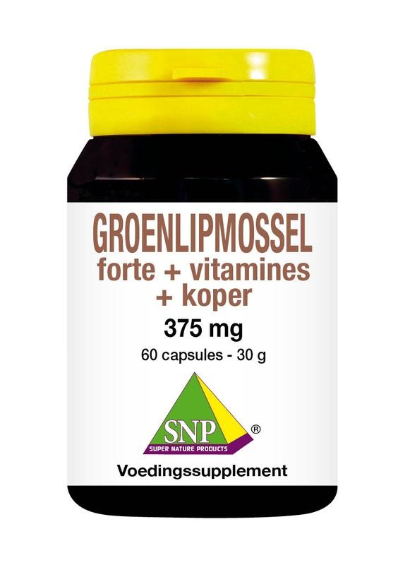 SNP SNP Groenlipmossel forte + vitamines + koper (60 capsules)