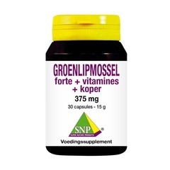 SNP Groenlipmossel forte + vitamines + koper (30 capsules)