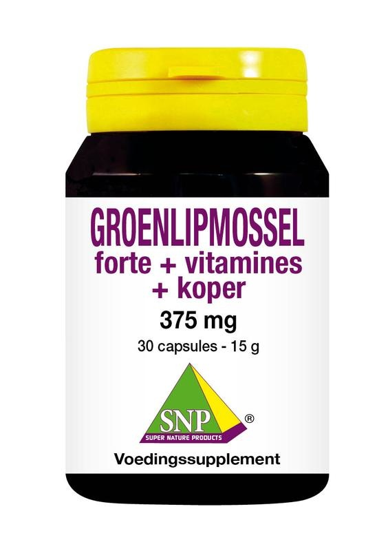 SNP SNP Groenlipmossel forte + vitamines + koper (30 capsules)