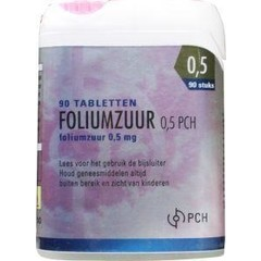 Pharmachemie Foliumzuur 0.5 mg click (90 tabletten)