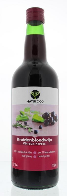Natufood Kruidenbloedwijn rood (750 ml)