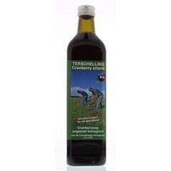 Terschellinger Cranberrysap ongezoet bio (750 ml)