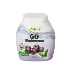 Stevija Stevia limonadesiroop go blackcurrant (40 ml)