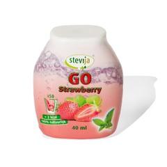 Stevija Stevia limonadesiroop go strawberry (40 ml)