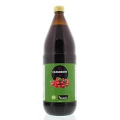 Hanoju Bio cranberry sap glas fles (1 liter)