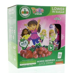 Appy Kids drink Dora mixed berries 200 ml (5 stuks)