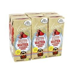 Leev Bio fruitwater aardbei en kers (6 stuks)