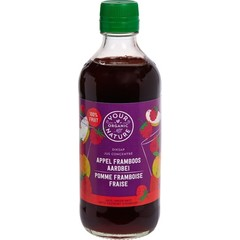 Your Organic Nat Diksap appel framboos aardbei (400 ml)