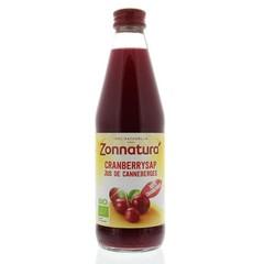 Zonnatura Cranberrysap puur bio (330 ml)