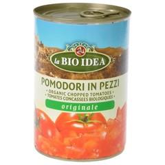 Bioidea Tomatenstukjes in blik (400 gram)