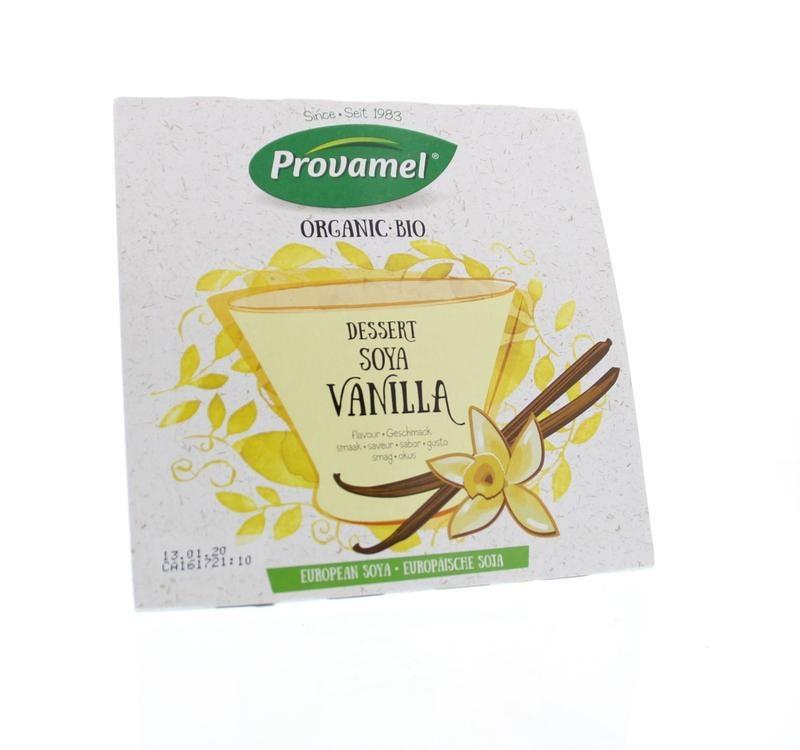 Provamel Provamel Dessert vanille rietsuiker 125 gram (4 stuks)