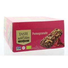Taste Of Nature Pomegranate granenrepen 40 gram (16 stuks)