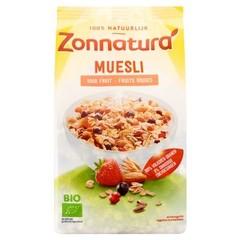 Zonnatura Muesli rood fruit bio (375 gram)