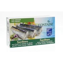 Fontaine Sardines met huid en graat (120 gram)