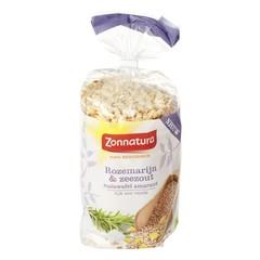 Zonnatura Maiswafel amarant rozemarijn zeezout (100 gram)