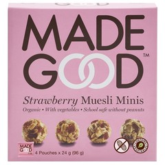 Made Good Granola minis strawberry 24 gram (4 zakjes)