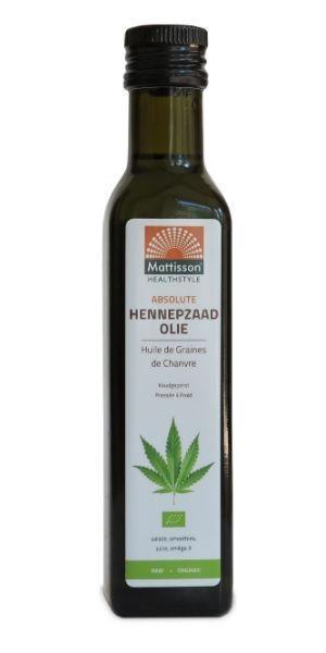 Mattisson Mattisson Hennepzaad olie raw biologisch (250 ml)