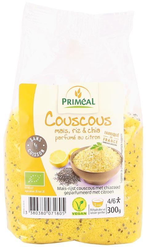 Primeal Primeal Couscous mais rijst en chia citroen (300 gram)