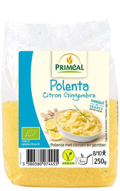 Primeal Primeal Polenta citroen gember (250 gram)