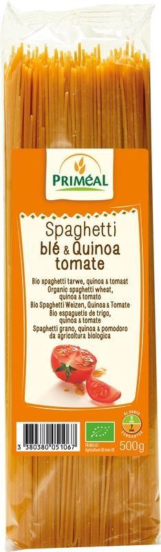 Primeal Primeal Organic spaghetti tarwe quinoa tomaat (500 gram)