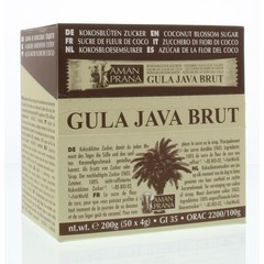 Amanprana Gula java brut stick 50 x 4 gram (200 gram)