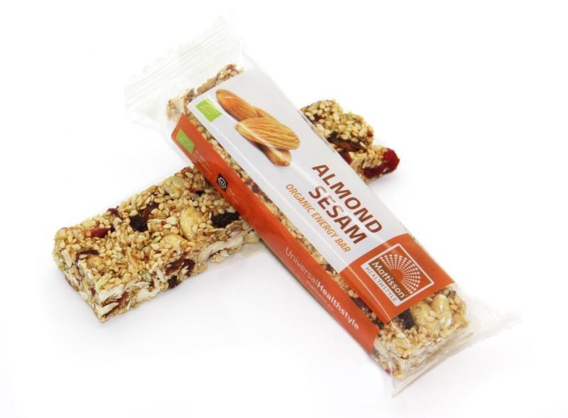 Mattisson Mattisson Organic energy bar almond sesam (40 gram)