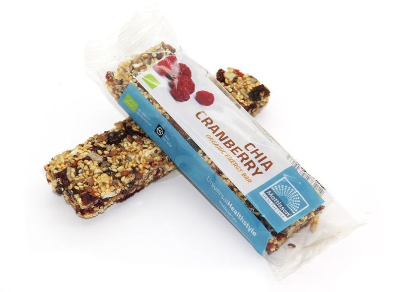 Mattisson Mattisson Organic energy bar chia cranberry (40 gram)