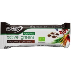Organic Food Bar active greens covered probiotica (68 gram)