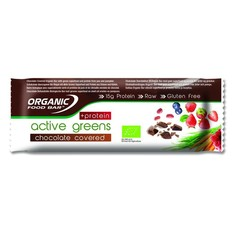Organic Food Bar active greens chocolade c protein (75 gram)