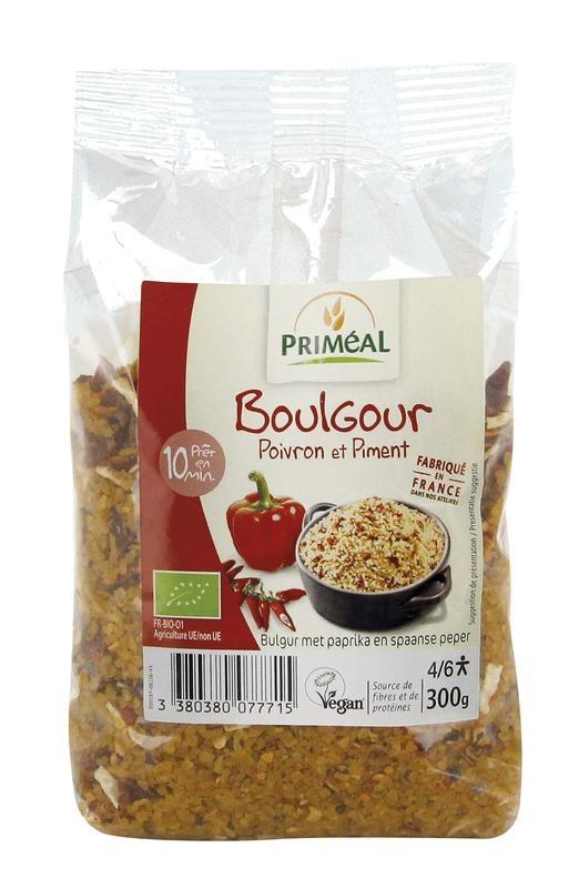 Primeal Primeal Bulgur met paprika en Spaanse peper (300 gram)