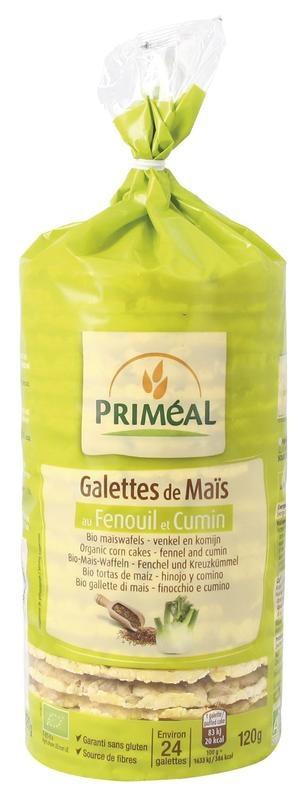 Primeal Primeal Maiswafels venkel komijn (120 gram)