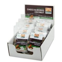 Mattisson Amandelen snack pure chocolade & cocos 35 gram (10 stuks)