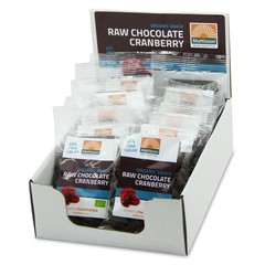 Mattisson Cranberries snack raw choco 35 gram (10 stuks)