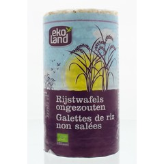 Ekoland Rijstwafels zonder zout (100 gram)