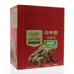 Taste Of Nature Cranberry granenrepen (16x40g)