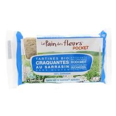 Pain Des Fleurs Boekweit cracker zonder zout pocket (18.5 gram)