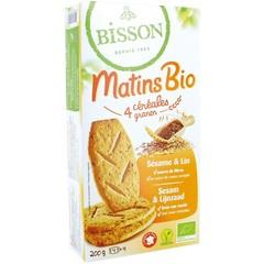 Bisson Biscuits ontbijt cereal/sesam (200 gram)