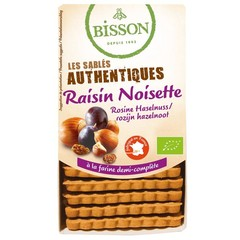 Bisson Biscuits hazelnoot rozijn (175 gram)